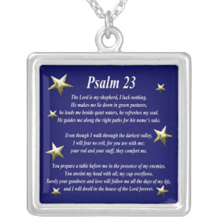 Star Choice Psalm 23 Silver Plated Necklace