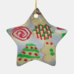 Star christmas cookie ornament
