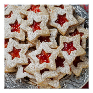 Star Christmas Cookies Poster