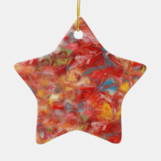 Star Christmas Ornament in Red Yellow and Blue