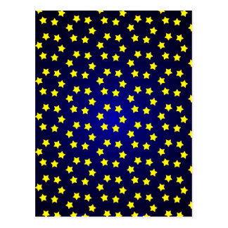 star christmas red yellow background postcard