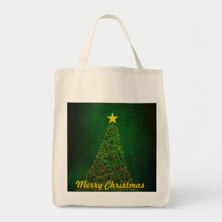 Star Christmas Tree Organic Shopping Bag
