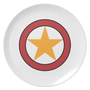 Star Circle Badge Dinner Plate  sc 1 st  Zazzle & Sheriff Star Plates | Zazzle
