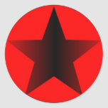 Star Circle Classic Round Sticker