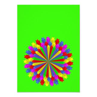 """star_circle_Vector_Clipart Invitación 5"""" X 7"""""""