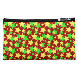 STAR CIRCUS! (red green & yellow) ~ Cosmetic Bag