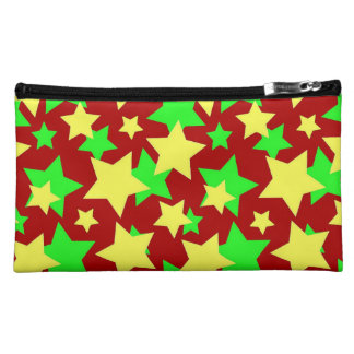 STAR CIRCUS! (red green & yellow) ~ Cosmetic Bags