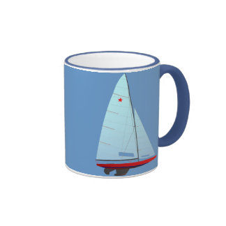 Star   Class Racing Sailboat Ringer Coffee Mug