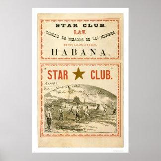 Star Club Baseball 1867 Poster