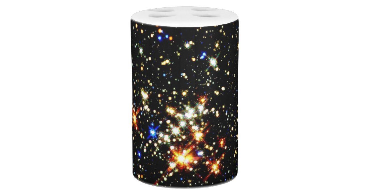 Star cluster an outer space design bath accessory sets for Outer space industrial design