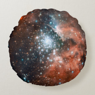 Star Cluster In The Milky Way Round Pillow