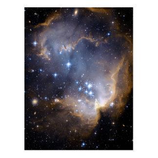 Star Cluster N90 Hubble Space Postcard