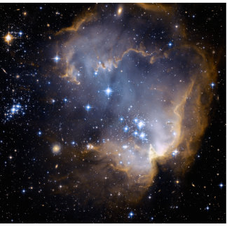 Star Cluster N90 Hubble Space Statuette