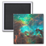 Star Cluster NGC 2074 2 Inch Square Magnet