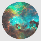 Star Cluster NGC 2074 Classic Round Sticker