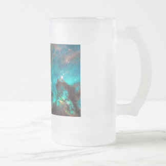 Star Cluster NGC 2074 Frosted Glass Beer Mug