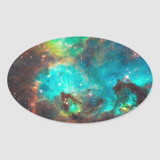 Star Cluster NGC 2074 Oval Sticker