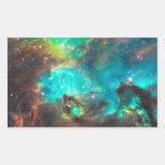 Star Cluster NGC 2074 Rectangular Sticker