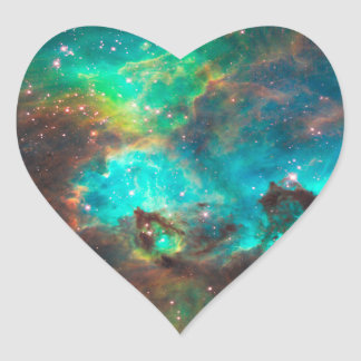 Star Cluster NGC 2074 Heart Stickers