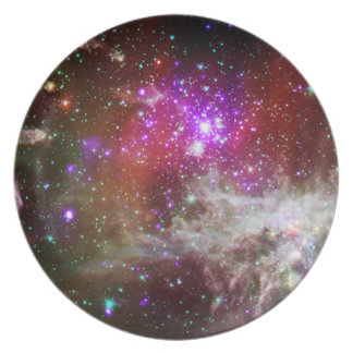 Star Cluster NGC 281 Pacman Nebula Party Plate