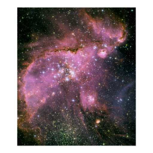 Star Cluster NGC 346 Hubble Space Poster