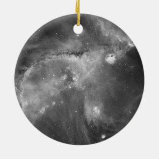 Star Cluster NGC 346 in Black & White Ceramic Ornament