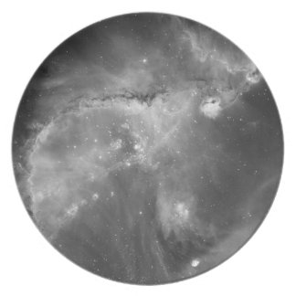 Star Cluster NGC 346 in Black White Party Plate