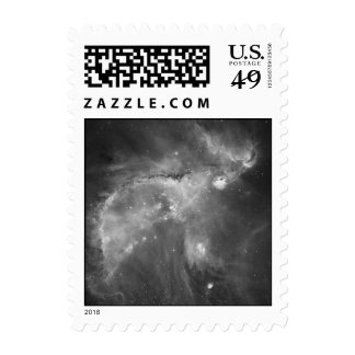 Star Cluster NGC 346 in Black & White Stamp