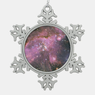 Star Cluster NGC 346 Snowflake Pewter Christmas Ornament