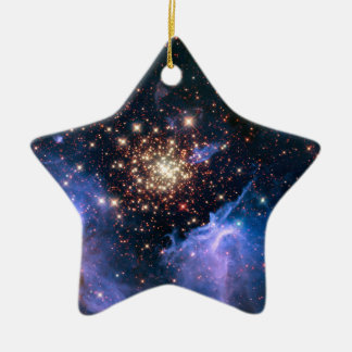 Star Cluster NGC 3603 (Hubble) Ceramic Ornament