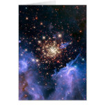 Star Cluster NGC 3603 (Hubble) Greeting Card