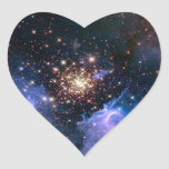 Star Cluster NGC 3603 (Hubble) Heart Sticker