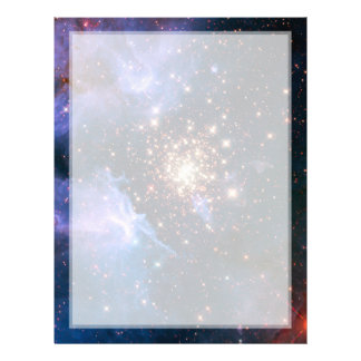 Star Cluster NGC 3603 (Hubble) Personalized Letterhead