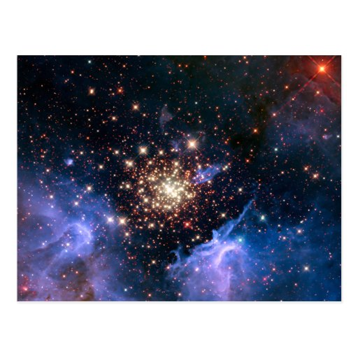 Star Cluster NGC 3603 (Hubble) Post Cards