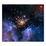 Star Cluster NGC 3603 (Hubble) Poster