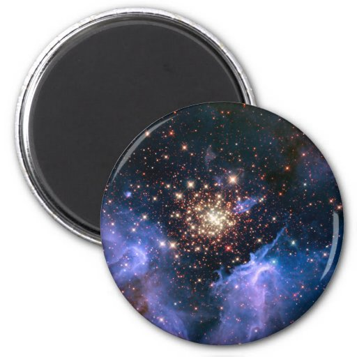 Star Cluster NGC 3603 (Hubble) Refrigerator Magnet