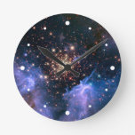 Star Cluster NGC 3603 (Hubble) Round Clock