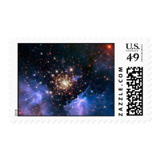 Star Cluster NGC 3603 (Hubble) Stamp