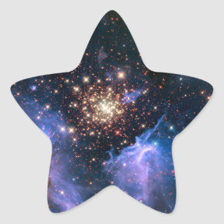 Star Cluster NGC 3603 (Hubble) Star Sticker