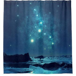 Star Cluster over Ocean Shower Curtain