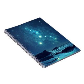 Star Cluster over Ocean Spiral Notebook