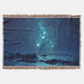 Star Cluster over Ocean Throw Blanket