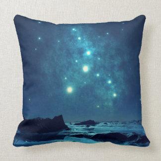 Star Cluster over Ocean Throw Pillow
