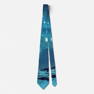 Star Cluster over Ocean Tie