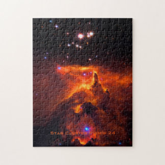 Star Cluster Pismis 24, core of NGC 6357 Jigsaw Puzzle