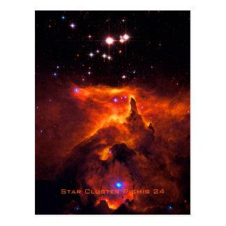 Star Cluster Pismis 24, core of NGC 6357 Postcard