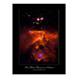 Star Cluster Pismis 24, core of NGC 6357 Posters