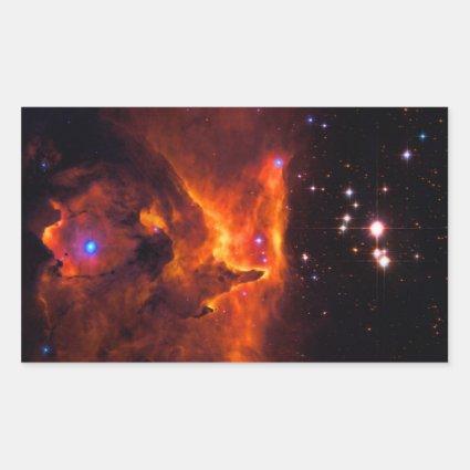 Star Cluster Pismis 24, core of NGC 6357 Rectangular Sticker