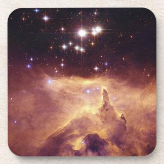 Star Cluster Pismis 24 in Emission Nebula NGC 6357 Beverage Coaster