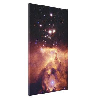 Star Cluster Pismis 24 in Emission Nebula NGC 6357 Canvas Print